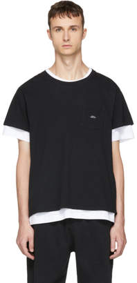 Second/Layer Black Spiral Pocket T-Shirt