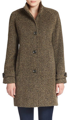 Jones New York Single-Breasted Wool-Blend Coat $340 thestylecure.com