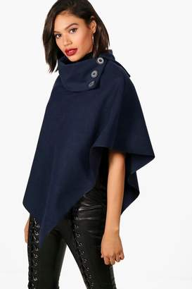 boohoo Julia Cape With Buttons $20 thestylecure.com