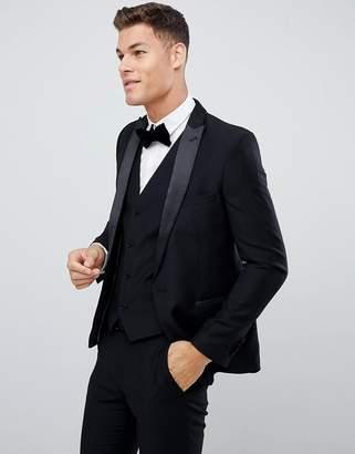 French Connection Slim Fit Peak Collar Tuxedo Jacket