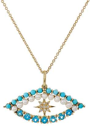 Ileana Makri Women's Shiny Star Eye Necklace