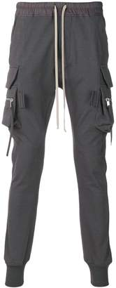 Rick Owens black slim cargo track pants