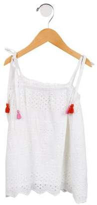 Pink Chicken Girls' Sleeveless Eyelet Top w/ Tags