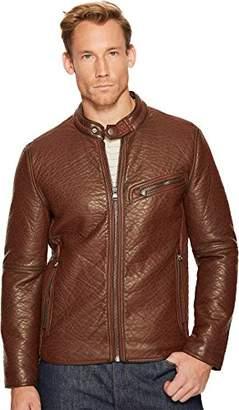 Andrew Marc Men's Dinsmore Faux Leather Moto Jacket