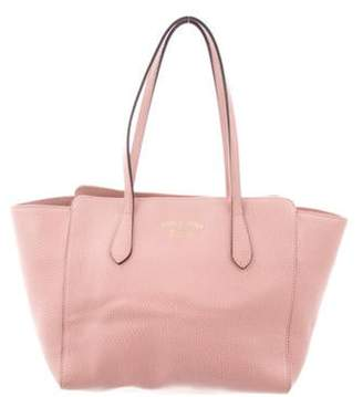 Gucci Small Swing Leather Tote Pink Small Swing Leather Tote