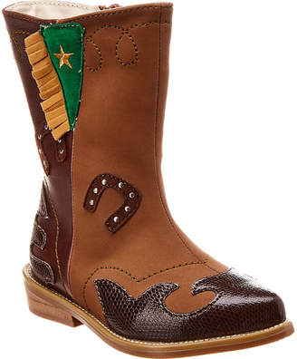 L'amour Arizona Cowboy Leather & Suede Western Boot