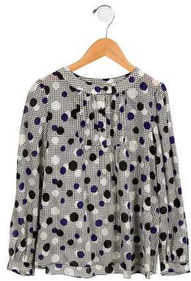 Milly Minis Girls' Printed Long Sleeve Top w/ Tags