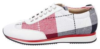 Thom Browne Buffalo Check Summer Tweed Sneakers w/ Tags