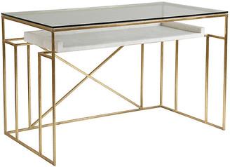 Artistica Cumulus Writing Desk - White/Gold