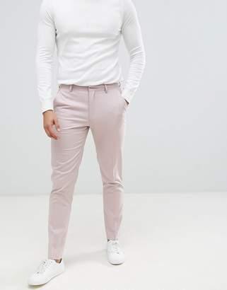 Asos Design DESIGN skinny smart pants in mink