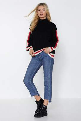 Nasty Gal Draw the Line Sweater
