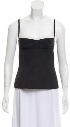 Narciso Rodriguez Silk Detail Sleeveless Top