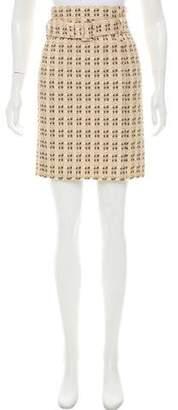 Prada Belted Brocade Skirt