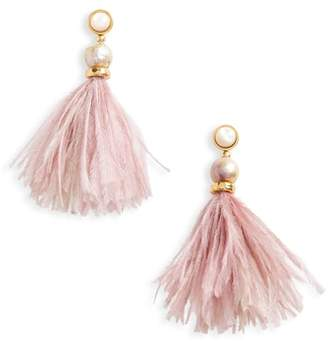 Lizzie Fortunato Parker Feather Drop Earrings