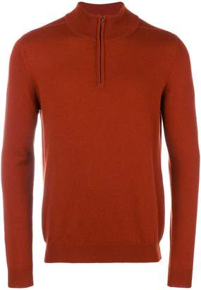 Pringle zipped neck jumper