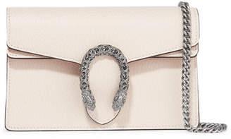 Gucci Dionysus Super Mini Textured-leather Shoulder Bag - White