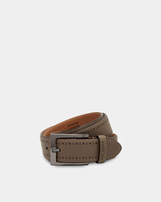Ted Baker HAVAN Brogue detail leather belt