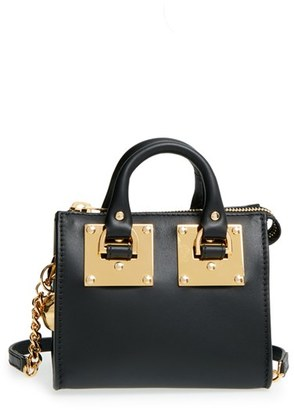Sophie Hulme 'Nano' Leather Crossbody Bag - Black $495 thestylecure.com