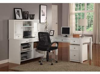 Beachcrest Home Veda Wood Credenza Desk