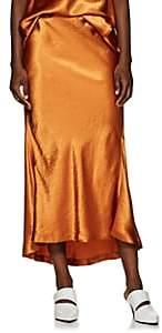 Sies Marjan Women's Xael Washed Satin Bias-Cut Midi-Skirt-Sienna