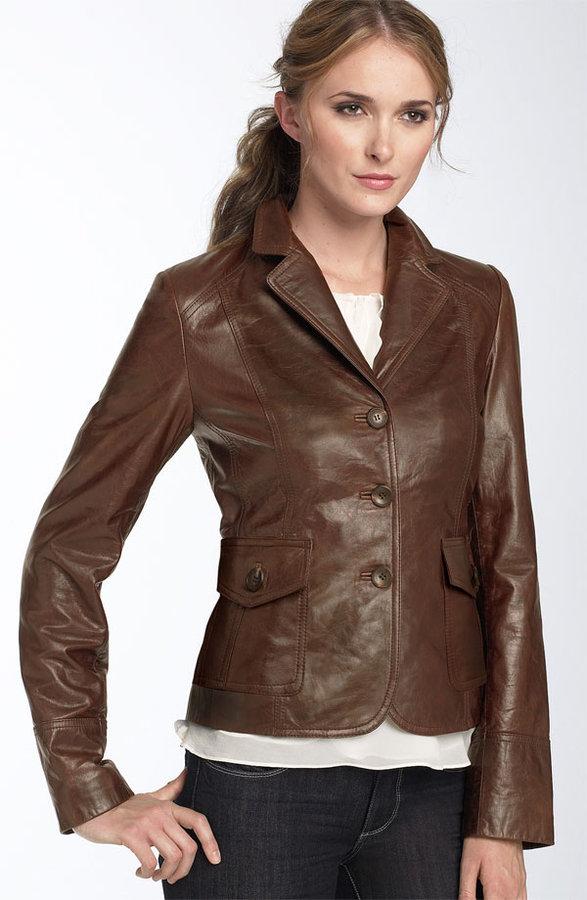 Calvin Klein Leather Blazer
