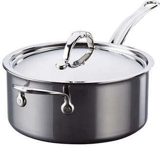 HESTAN 3-Ply 4-Quart Stainless Steel Covered Saucepan
