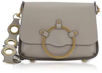 Rebecca Minkoff Taupe Leather Ring Shoulder Bag