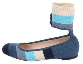 Fendi Knit Round-Toe Flats