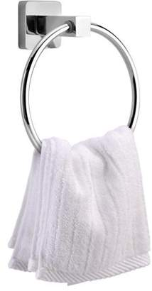 EECOO Stainless Steel Towel Ring Holder Bathroom Accessories Wall Mounted Modern Shower Dish Towel Ring Hanger