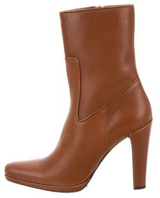 Car Shoe Leather Ankle Boots