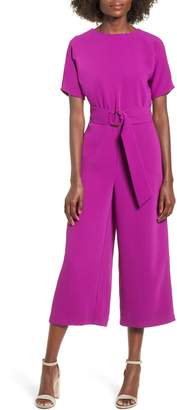 June & Hudson Belted Culotte Jumpsuit
