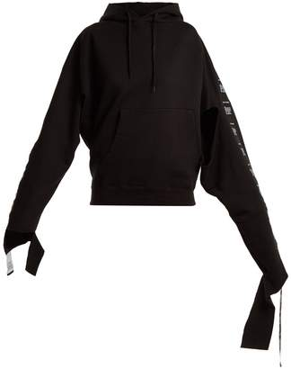 Vetements Hooded tape-trimmed sweatshirt