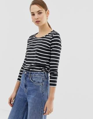 Ichi Stripe Long Sleeve Top
