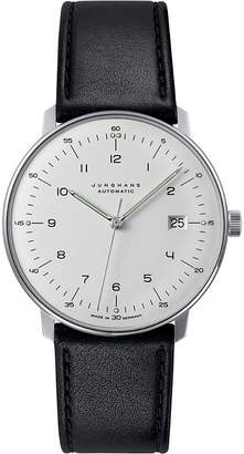 Junghans 027/4700.00 max bill automatic steel and leather watch