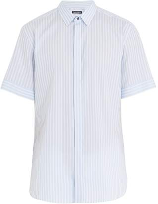 Dolce & Gabbana Striped short-sleeved cotton shirt