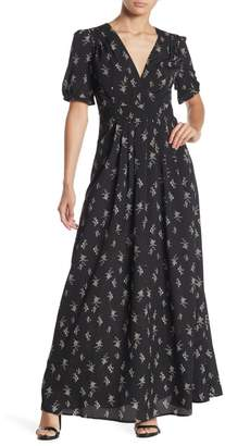 re:named apparel Lucia Floral Maxi Dress