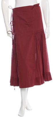 Jean Paul Gaultier Pleated Wrap Skirt $65 thestylecure.com