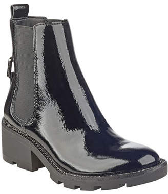 KENDALL + KYLIE Porter Lace-Up Patent Chelsea Boot
