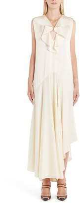Fendi Ruffle Satin Dress
