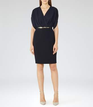 Reiss Lyon Laser-Cut V-Neck Dess