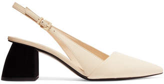 Mercedes Benz Castillo - Noni Leather Slingback Pumps - White