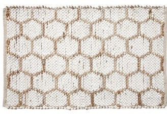 """Ess Ess Exports Beehive Modern Area Rug 24""""X36"""" White Ess Ess Exports"""