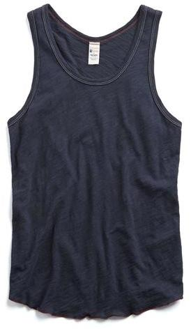 Todd Snyder + Champion Navy Solid Tank Top