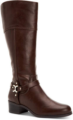 Charter Club Helenn Riding Boots, Women Shoes