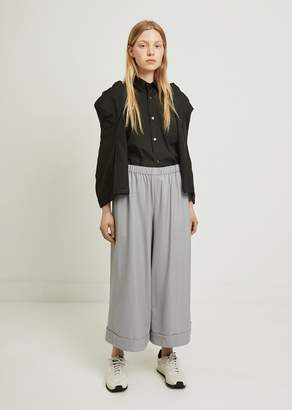 Comme des Garcons Wool Twill Formal Wide Leg Pants