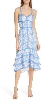 Alice + Olivia Diane Tiered High/Low Dress