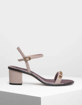 Charles & Keith Embellished Heeled Sandals