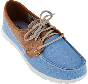 As Is Skechers On-the -Go Boat Shoes with Goga Mat -Breezy $35.50 thestylecure.com