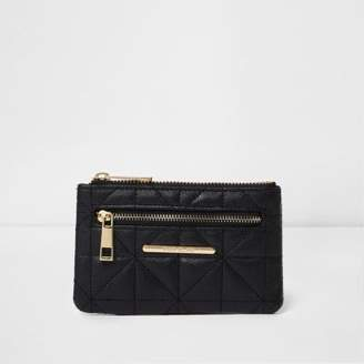River Island Black quilted mini purse
