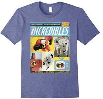 Disney Pixar Incredibles Comic Panel Retro Vintage T-Shirt